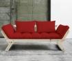 Sofa extensibila Bebop Natural and Red