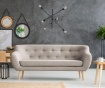 Canapea 3 locuri Sicile Light Grey
