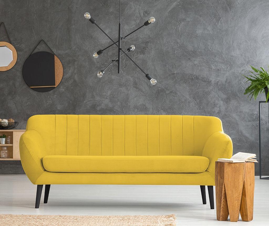 Canapea 3 locuri Toscana Yellow