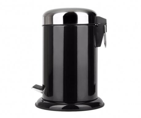 Odpadkový koš s víkem a pedálem Padox Black 5 L
