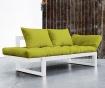Sofa extensibila Edge White and Pistachio