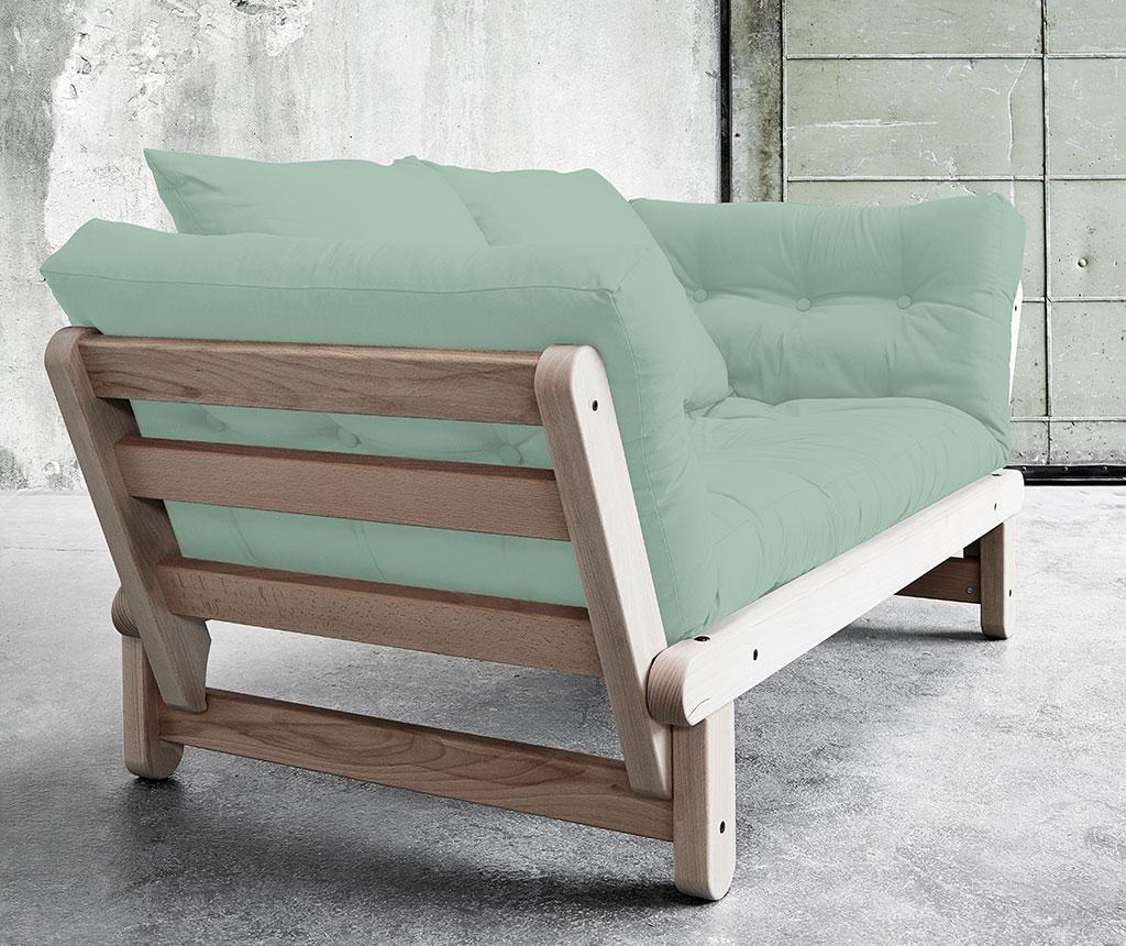 Kauč na razvlačenje Beat Lonetta Cream and Peppermint Green