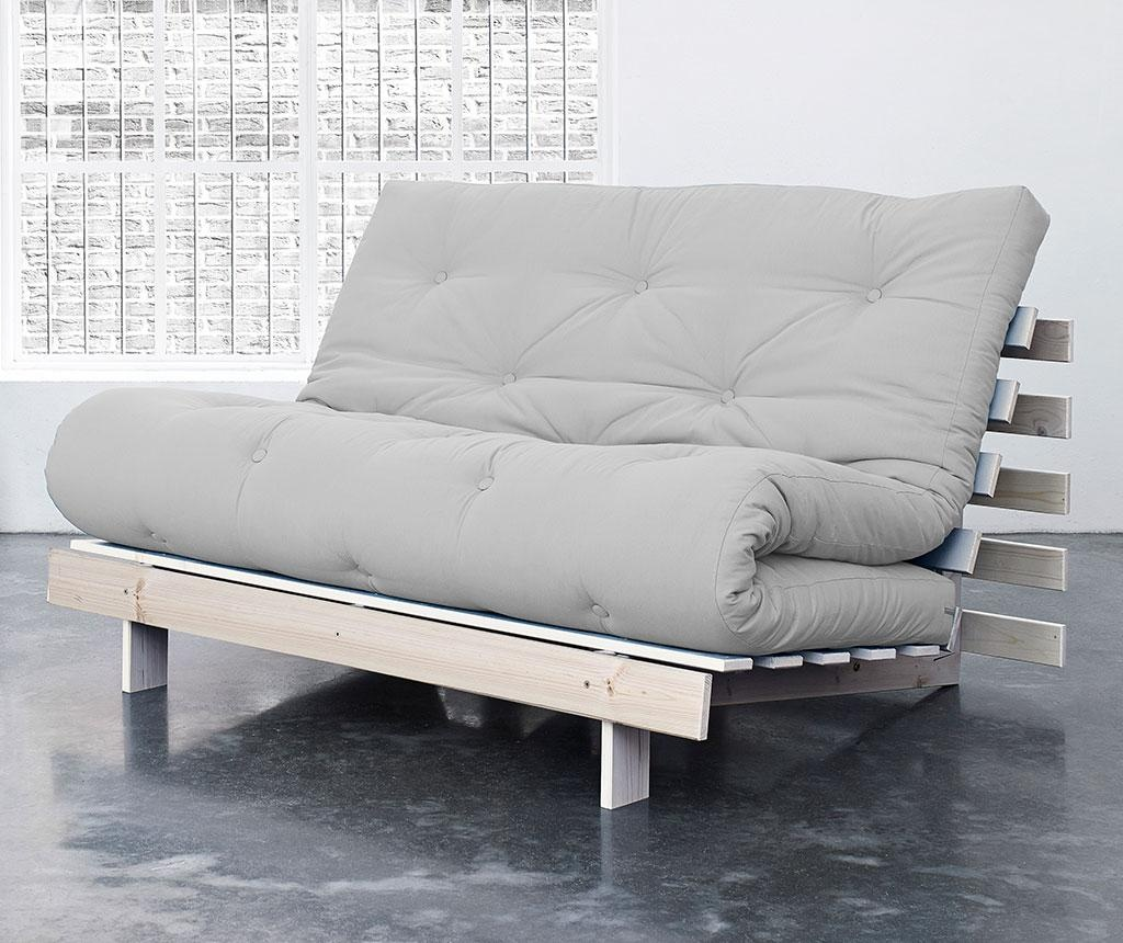 Sofa extensibila Roots Natural and Light Grey 140x200 cm