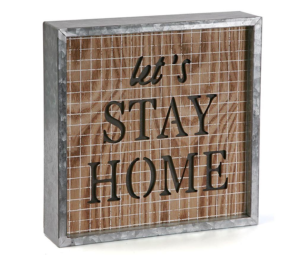Let's Stay Home Fénydekoráció