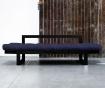 Sofa extensibila Edge Black and Navy Blue