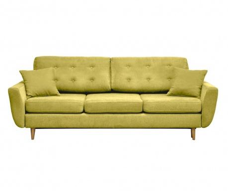 Kauč trosjed na razvlačenje Barcelona Mustard