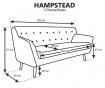 Canapea 3 locuri Hampstead Mint