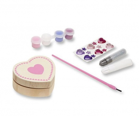 Zestaw kreatywny 20 elementów Heart Box
