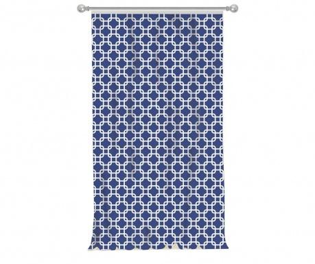 Zastor Squares Blue 140x270 cm