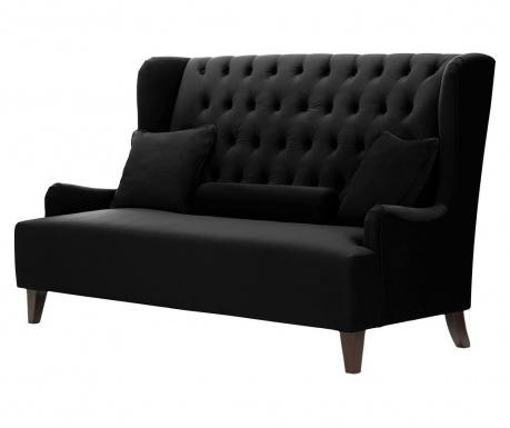 Canapea 2 locuri Flanelle Black