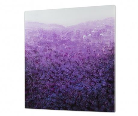 Tablou Purple Field 80x80 cm