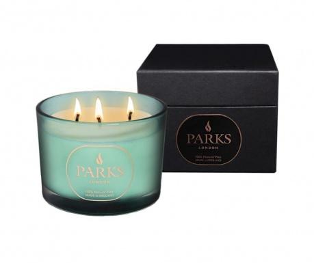 Dišeča sveča s 3 stenji Parks Moods Lemongrass & Peppermint