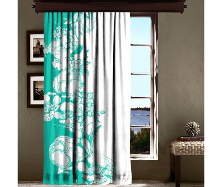 Draperie Efflorescence Turquoise 140x260 cm