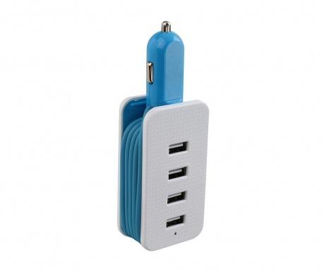 USB Flien Blue Autós töltő
