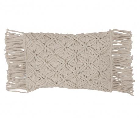 Macrame White Grey Díszpárna 30x50 cm