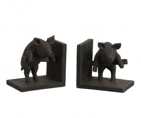 Set 2 suporturi pentru carti Piggy