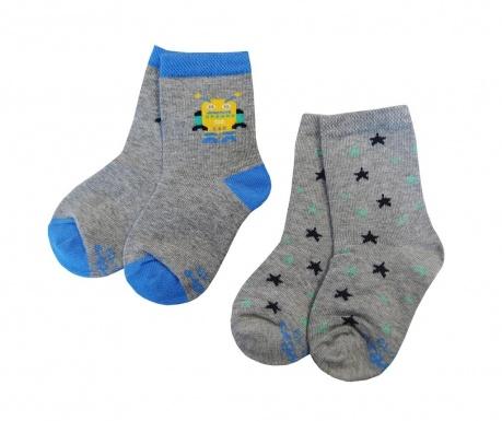 Set 2 para čarapa Star Robot