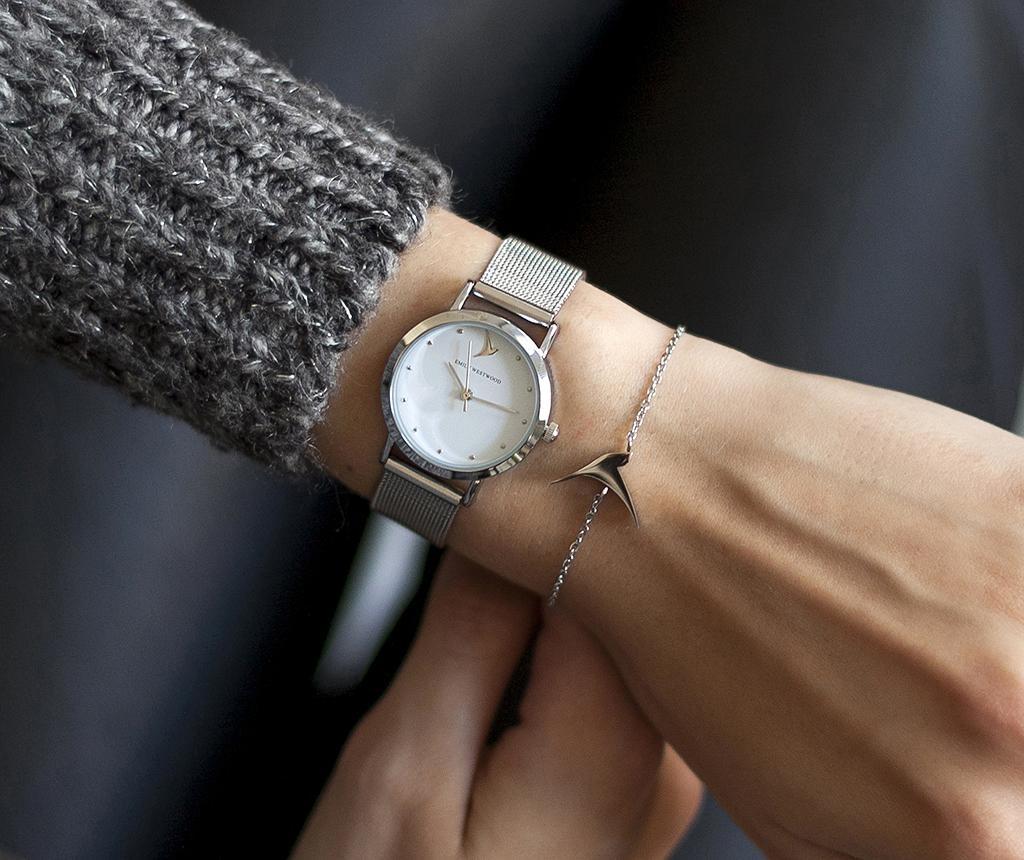 Ženski ručni sat Emily Westwood Petite Glam Silver