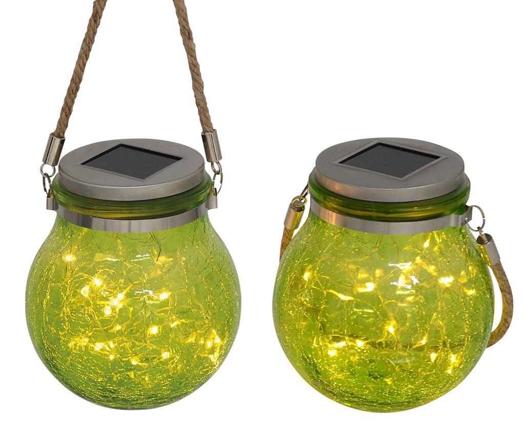 Henley Green 2 db Napelemes lámpás LED-el
