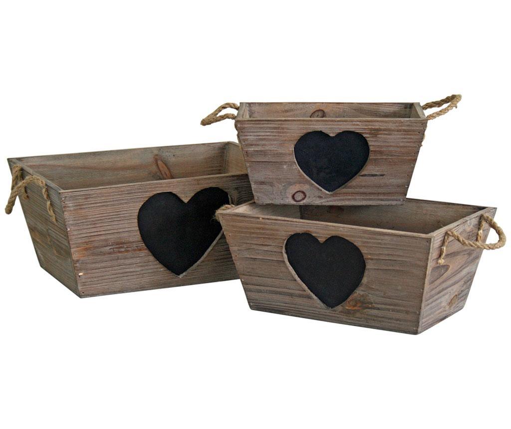Heart 3 db Kosár