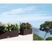 Set jardiniera cu sistem autoirigare si suport Balconera Granite