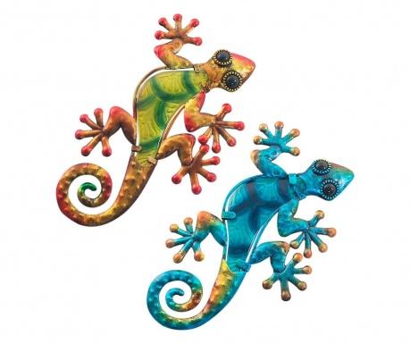 Sada 2 nástenné dekorácie Saga Lizard