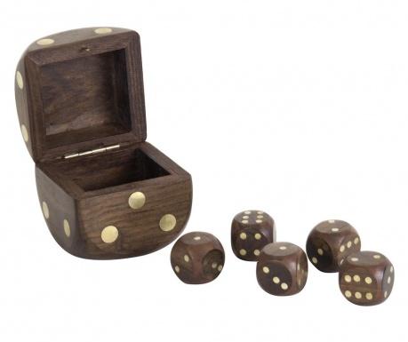 Set cutie cu 5 zaruri Play Time