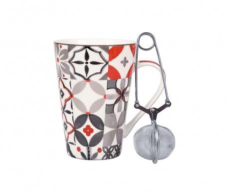 Комплект чаша с инфузер Carreau  Rouge 340 мл