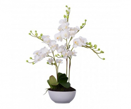 Floare artificiala in ghiveci Fiori White Orchid