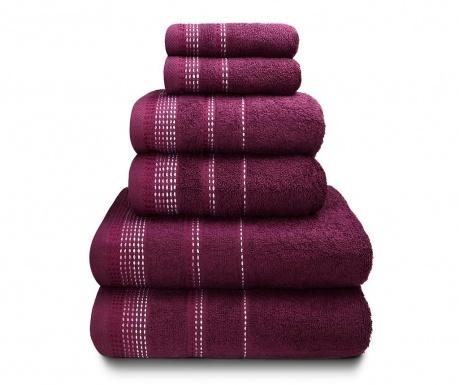 Zestaw 6 ręczników kąpielowych Berkley Mulberry