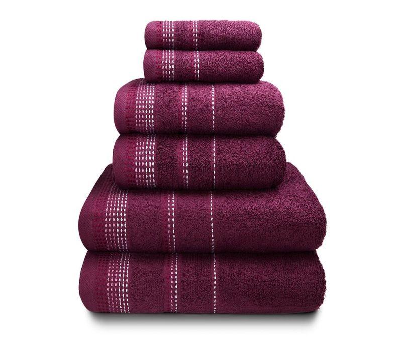 Set 6 kupaonskih ručnika Berkley Mulberry