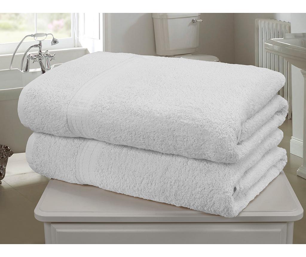 Set 2 kopalniških brisač Royal Kensington White 90x140 cm