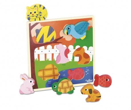 Hra typu puzzle, 6 dílů Pets