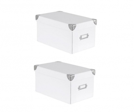 Set 2 kutije za spremanje s  poklopcem   Peny White