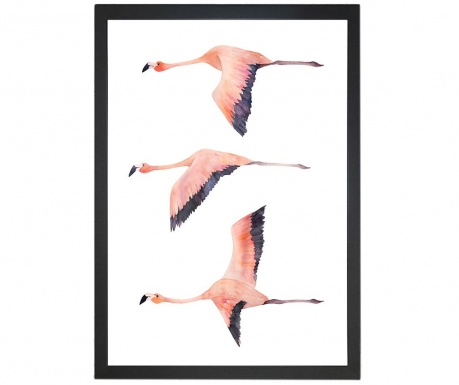 Slika Flying Flamingos 24x29 cm