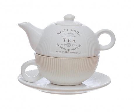 Комплект чайник с чашка и чинийка Sweet Home