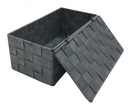 Kutija s poklopcem Grey Spotted Wide