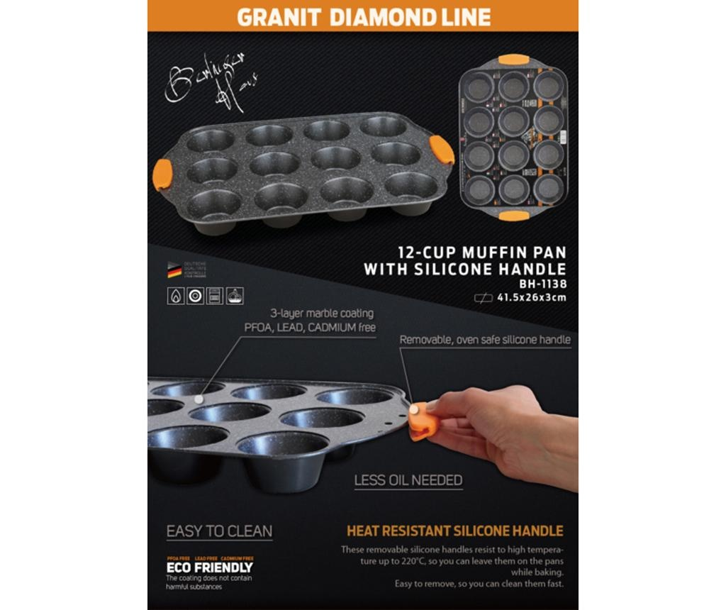 Granit Diamond Sütőtepsi 12 muffinnak