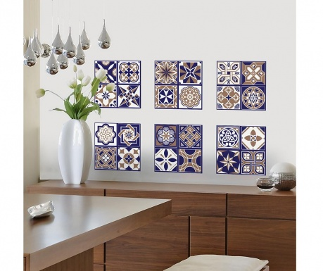 Set 12 naljepnice Royal Tiles