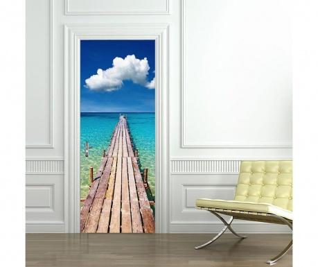 Naklejka na drzwi Beach Door