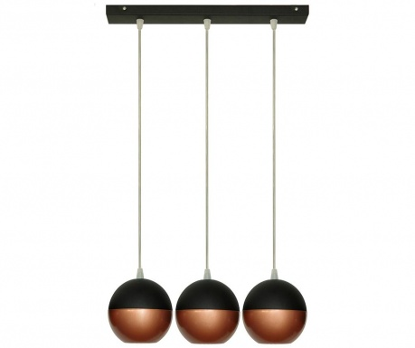 Lustra Midway Wide Three Black Copper