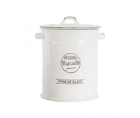 Pojemnik z pokrywką na herbatniki Pride White 2.275 ml