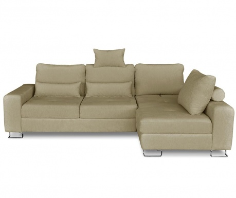 Разтегателен десен ъглов диван Alpha Beige