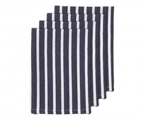 Set 4 servete de masa Bahamas Stripe Navy Blue 45x45 cm