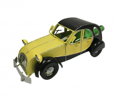 Θήκη μπουκαλιού Premium Vintage Car Yellow Black