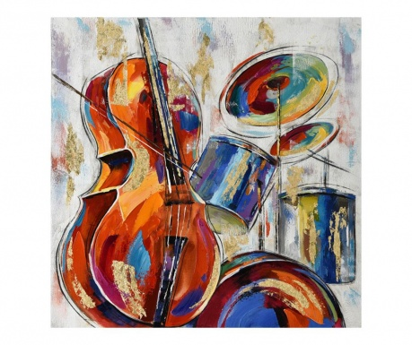 Slika Gallery Music Instruments 100x100 cm
