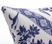 Audrina White and Blue Díszpárna 33x53 cm