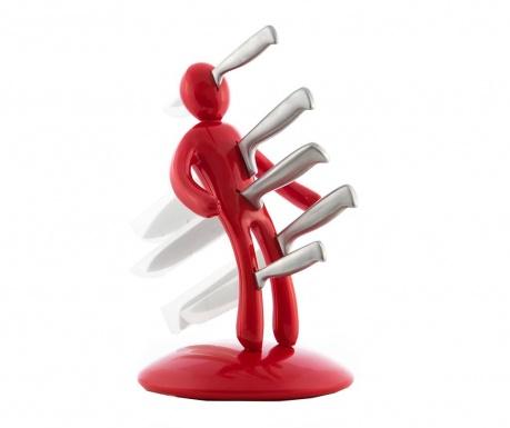 Sada 5 nožů se stojanem Voodoo Cherry