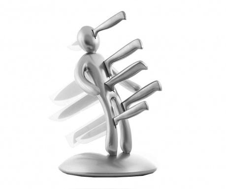 Sada 5 nožů se stojanem Voodoo Silver