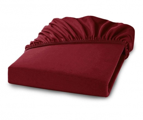 Долен чаршаф с ластик Percale Loryn Red Wine